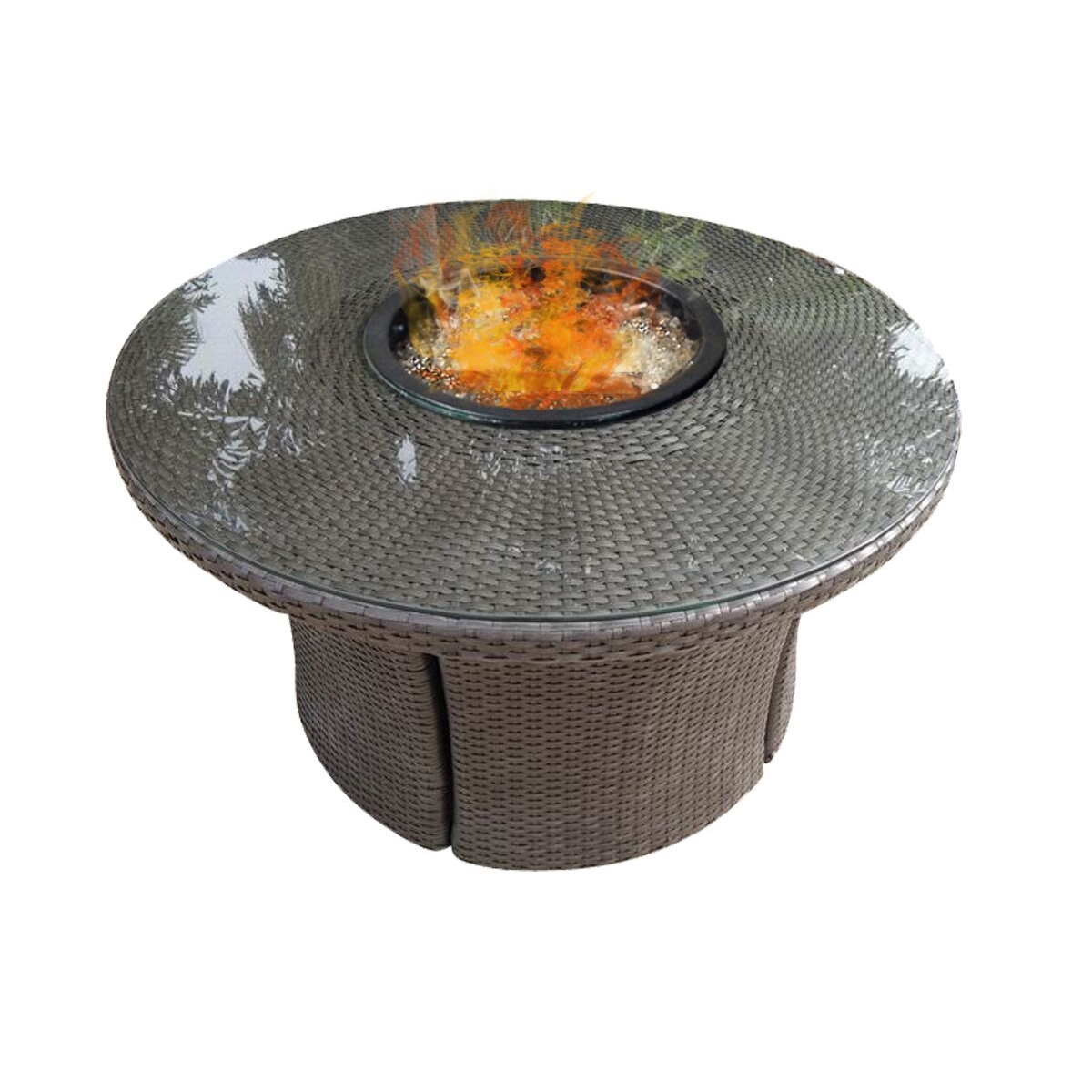 Fire Table Round Outdoor Patio Furniture Patiohq