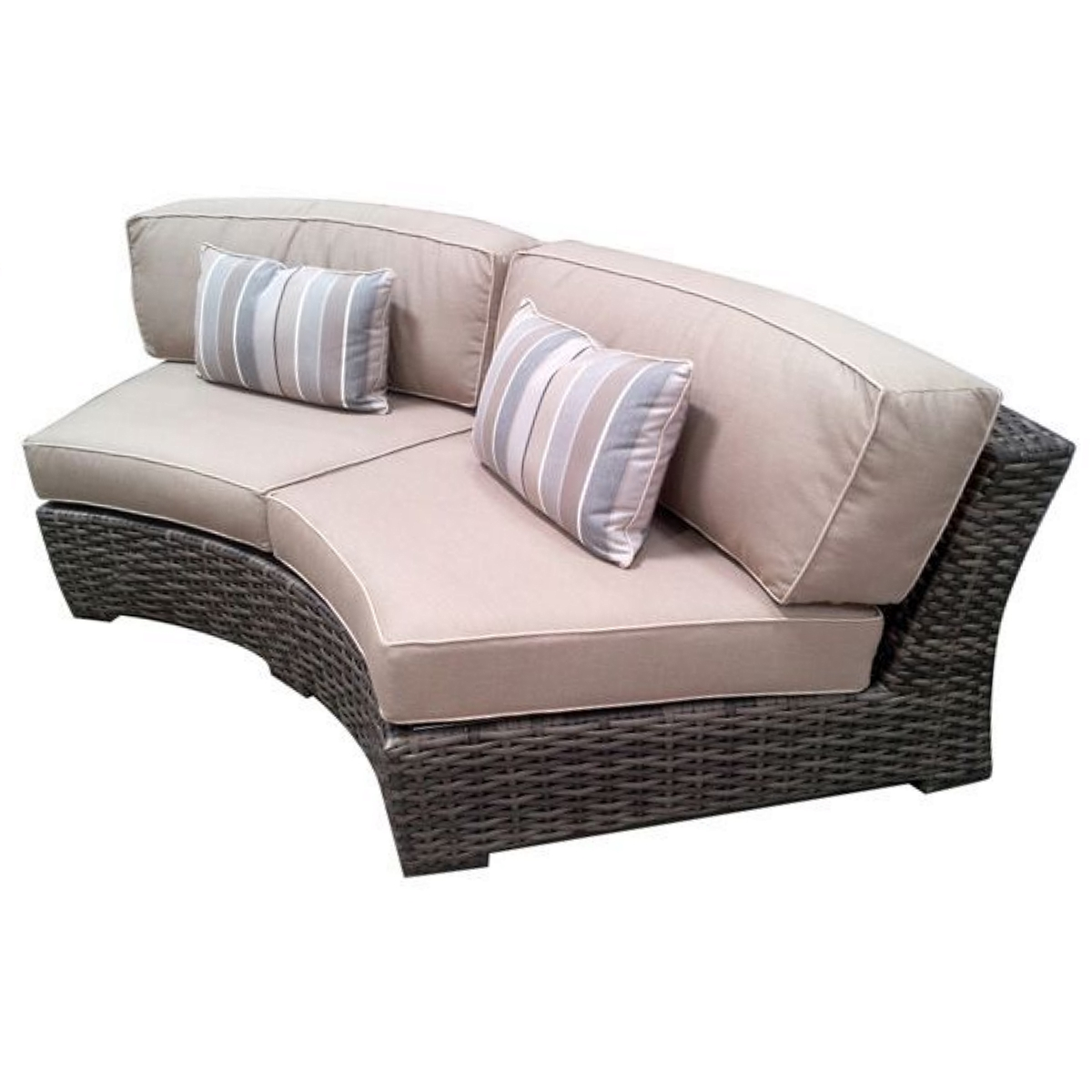 Homefurniture Collectionsconcord Collectionconcord Outdoor Patio Furniture Curved Sofa