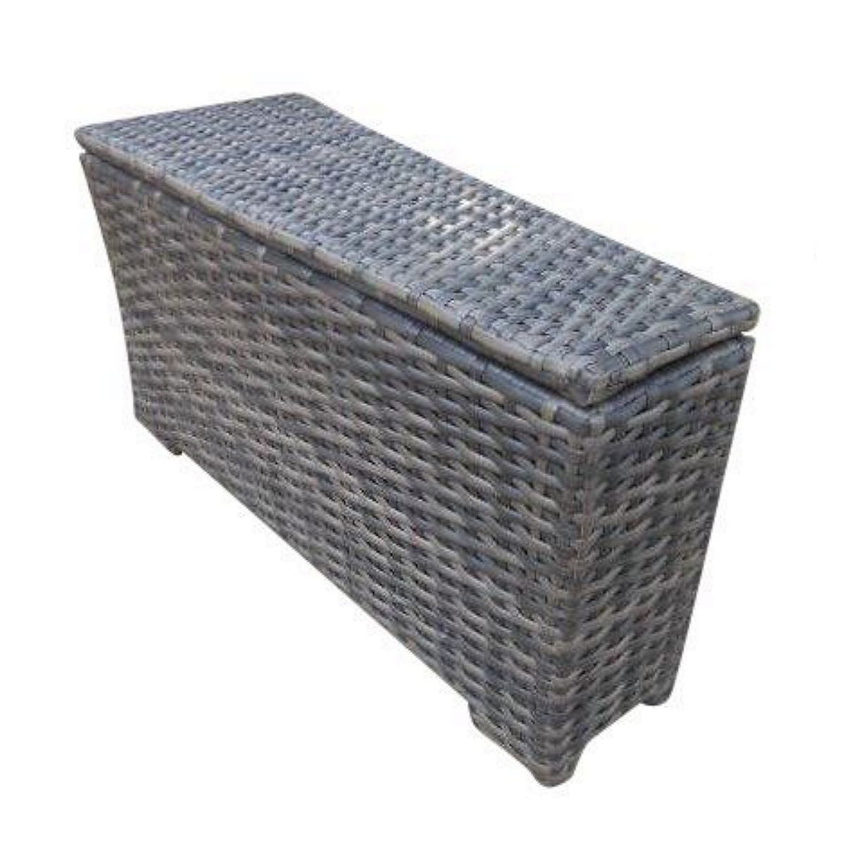 Outdoor Patio Furniture With Storage.Concord Storage Outdoor Patio Furniture Wedge End Table