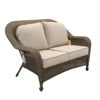 without seat outdoor chairs garden loveseats woven cushion steel loveseat textured black pin patio severson treasures