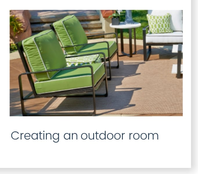 Creating an outdoor room