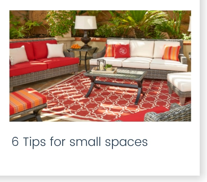6 tips for small spaces