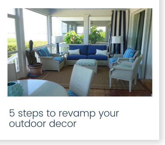5 steps to revamp your outdoor decor