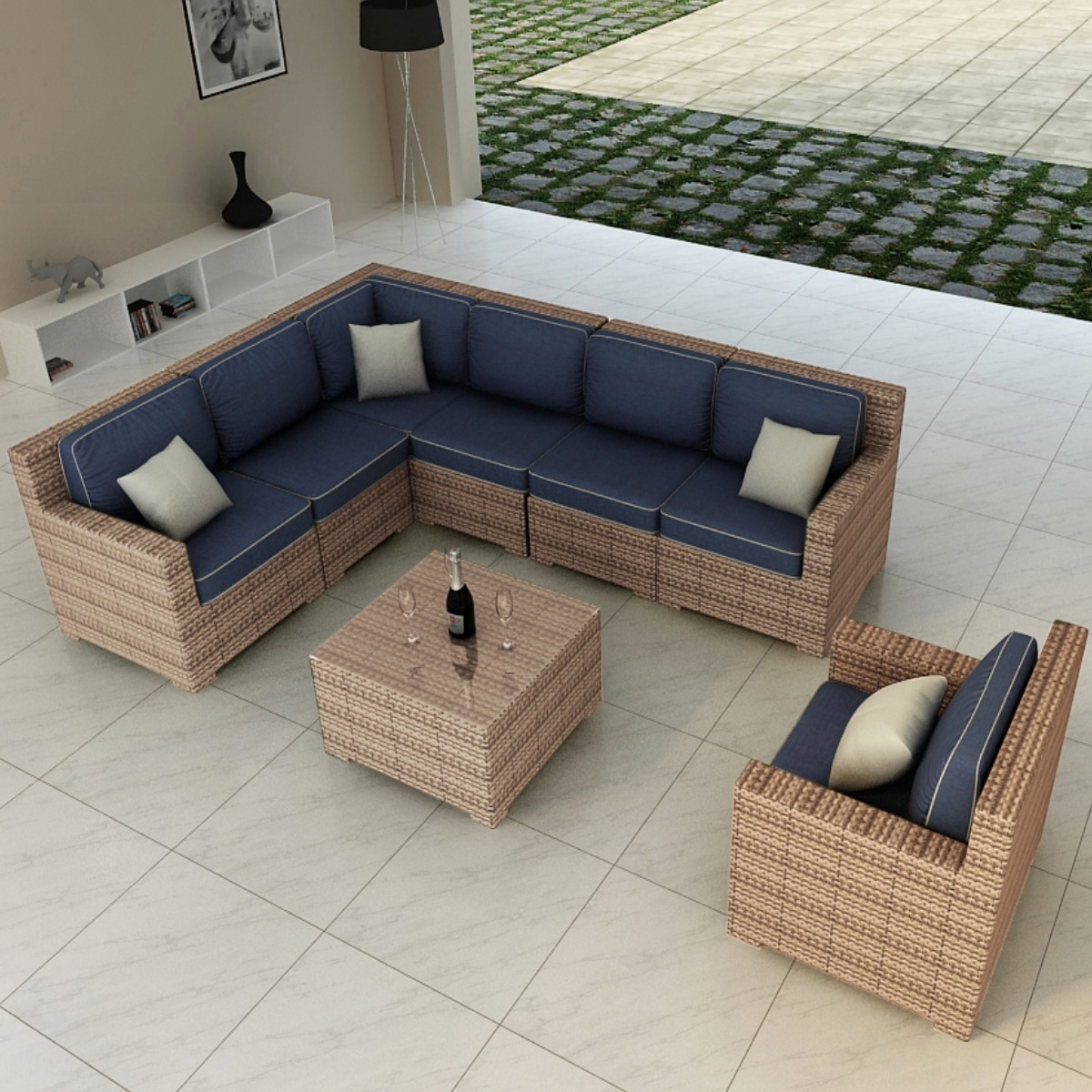 Sectional Outdoor Patio Furniture Set