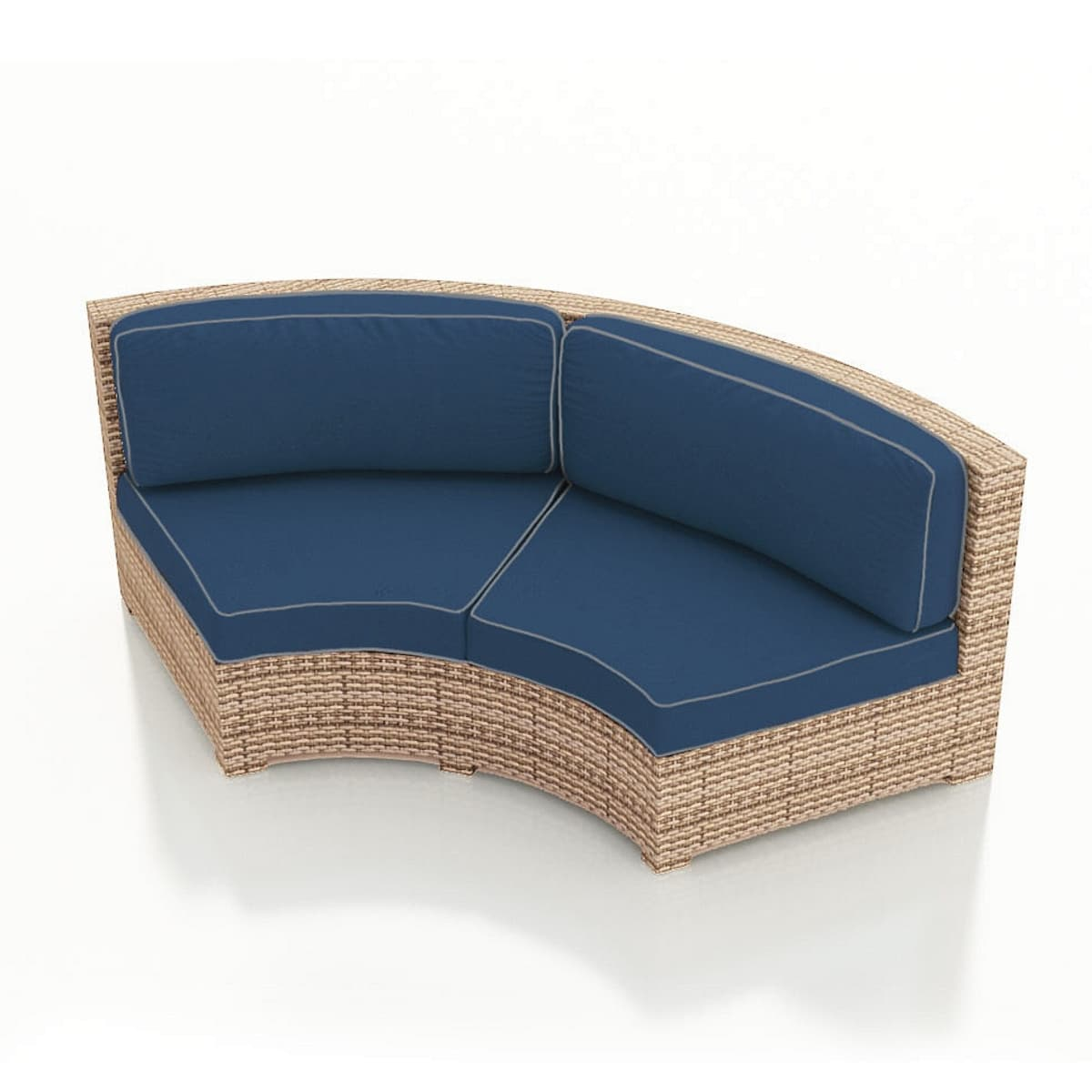 Hampton Radius Curved Outdoor Patio Furniture Loveseat ...