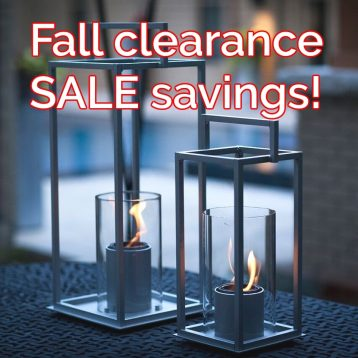 Shop or PatioHQ Fire clearance sale and SAVE!