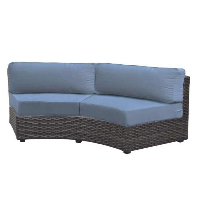 Delaney Outdoor Patio Furniture Curved Sofa