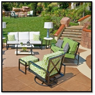 patio chair green