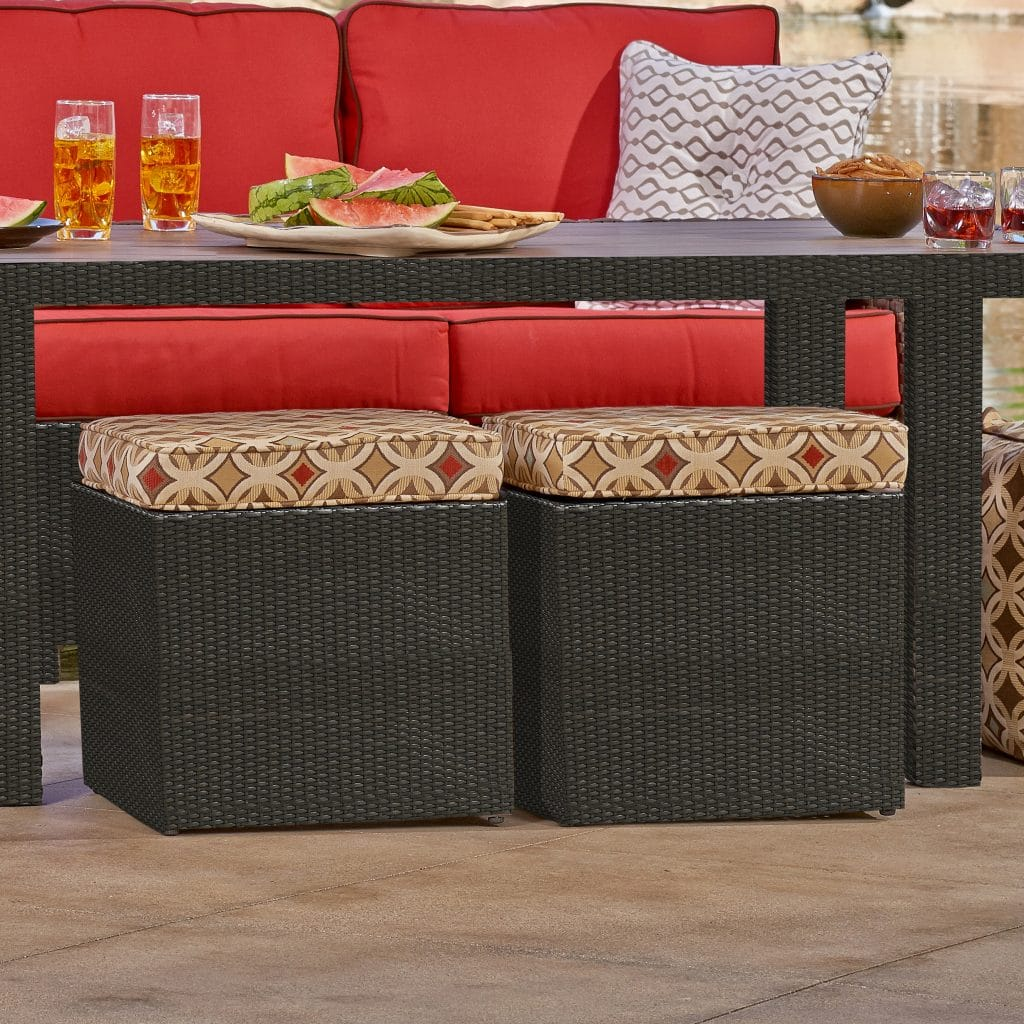 Outdoor Patio Furniture Cube Ottoman