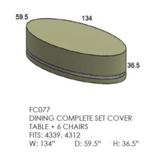 Dining Complete Set Cover Table + 6 Chairs