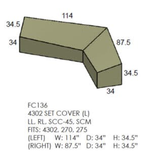 4302 Set Sectional Cover - Left Side