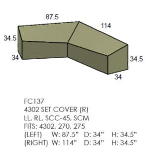 4302 Set Sectional Cover - Right Side