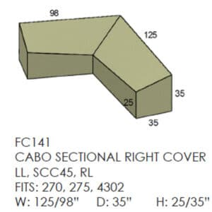 Cabo Sectional Cover - Right Side