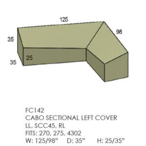 Cabo Sectional Cover - Left Side